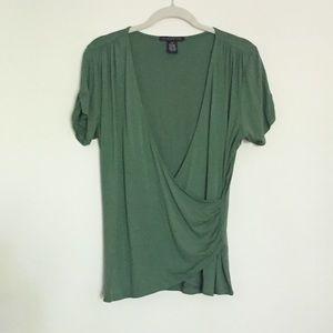 Sarah Spencer Tops - Sarah Spencer grass green wrap knit top M